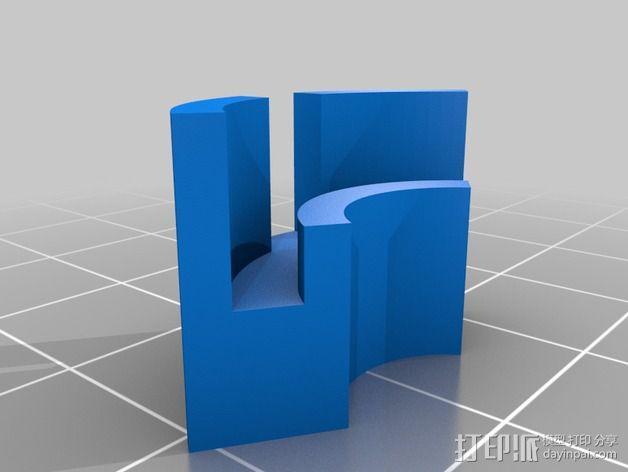 Flashforge Creator X打印机玻璃板垫片 3D模型  图6