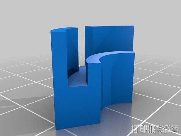 Flashforge Creator X打印机玻璃板垫片 3D模型  图5
