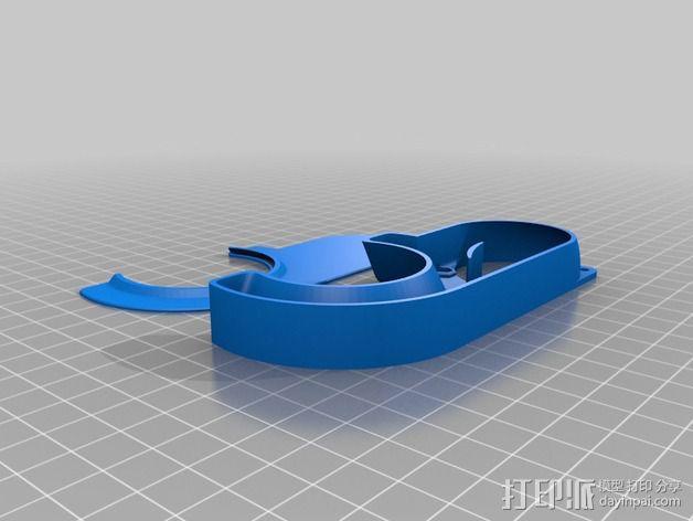K8200打印机风扇通风管 3D模型  图2