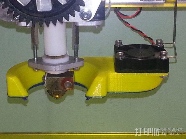 K8200打印机风扇通风管 3D模型  图3