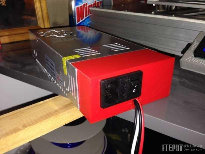 电源开关盒 3D模型  图1