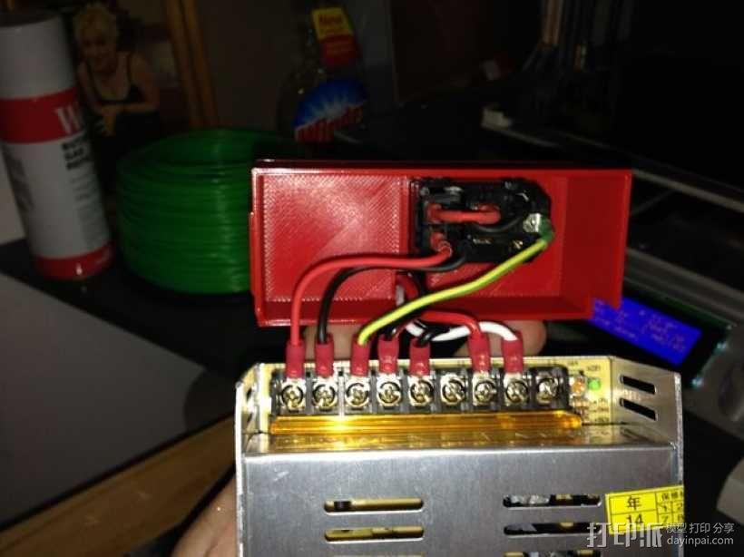 电源开关盒 3D模型  图4