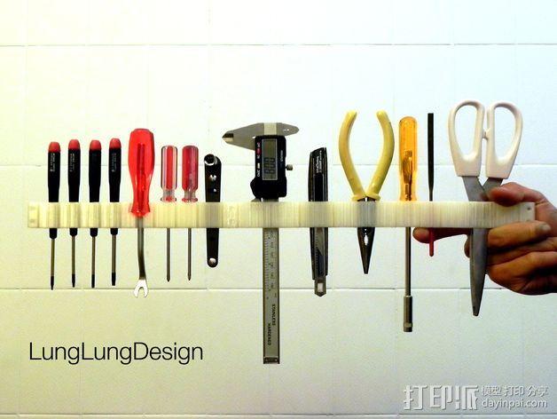 可拼组的工具架 3D模型  图2