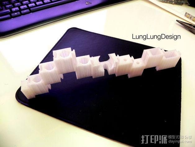 可拼组的工具架 3D模型  图4