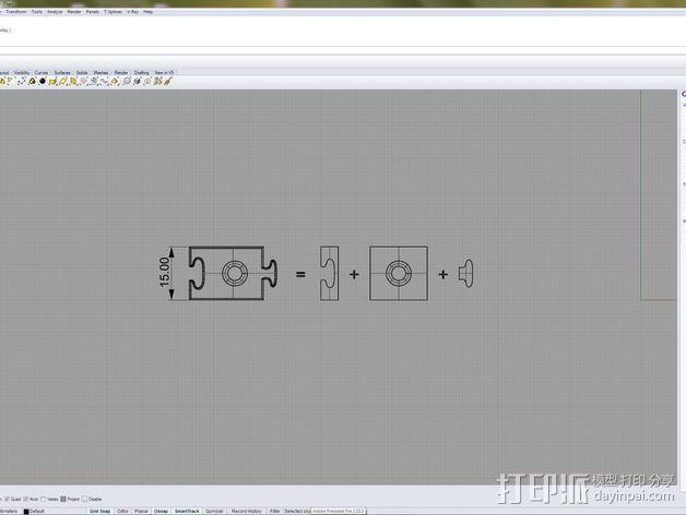 可拼组的工具架 3D模型  图9
