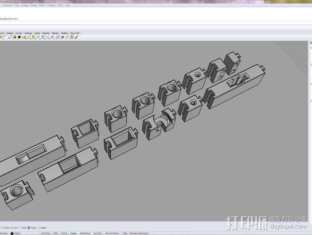 可拼组的工具架 3D模型  图8