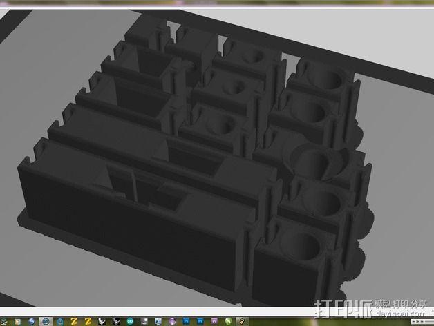 可拼组的工具架 3D模型  图12