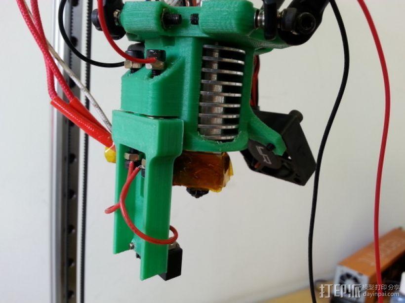 Kossel Mini打印机喷嘴架 3D模型  图3