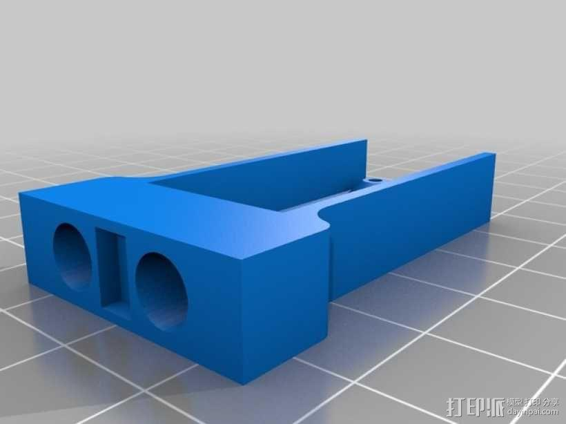 Kossel Mini打印机喷嘴架 3D模型  图6