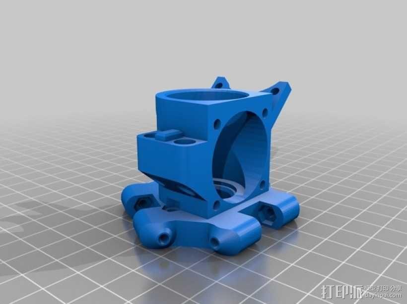 Kossel Mini打印机喷嘴架 3D模型  图5