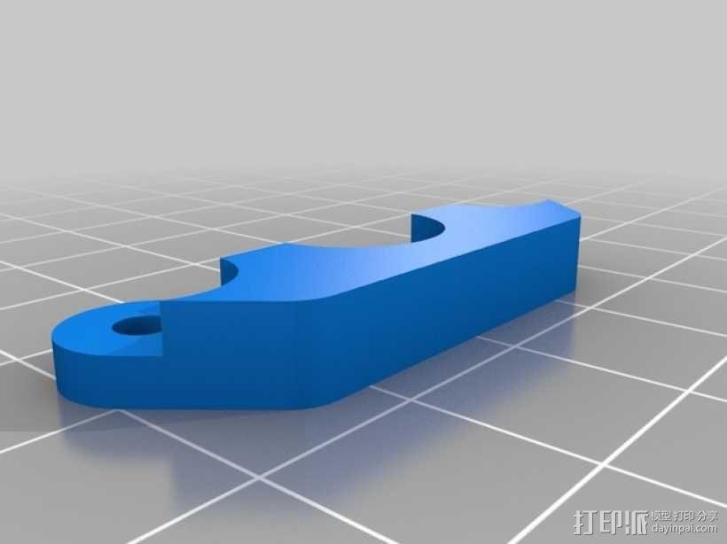 Kossel Mini打印机喷嘴架 3D模型  图7