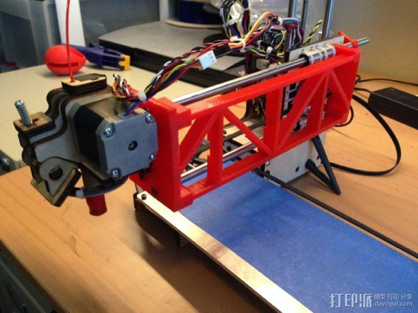 PrintrBot打印机Y轴皮带固定装置 3D模型  图1
