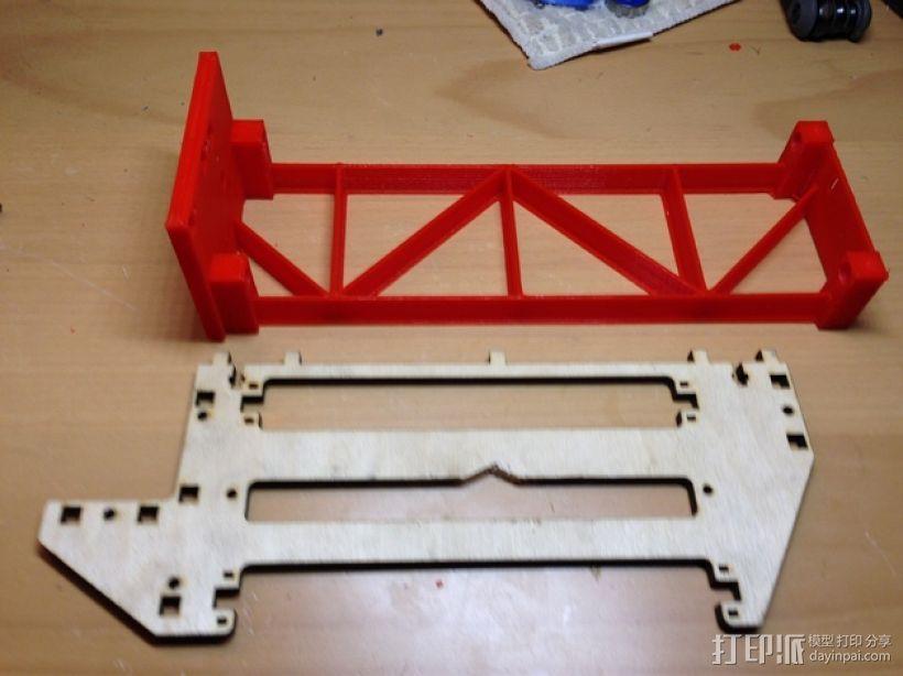 PrintrBot打印机Y轴皮带固定装置 3D模型  图2