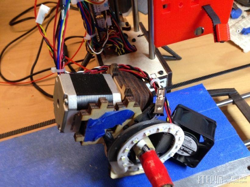 PrintrBot打印机Y轴皮带固定装置 3D模型  图7