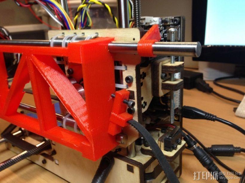PrintrBot打印机Y轴皮带固定装置 3D模型  图8