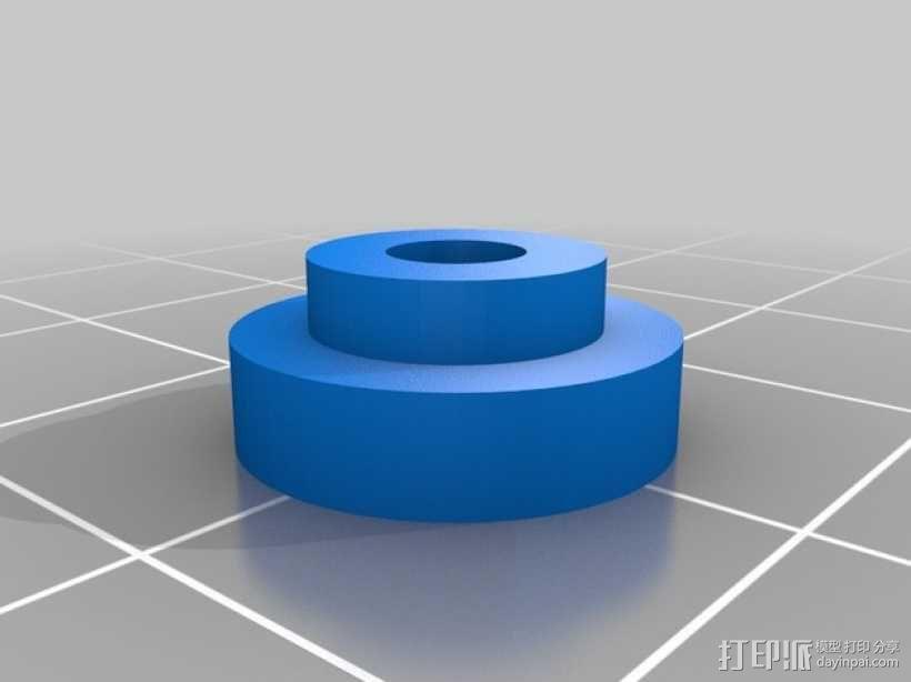 PrintrBot打印机Y轴皮带固定装置 3D模型  图11