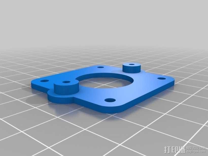 PrintrBot打印机Y轴皮带固定装置 3D模型  图10