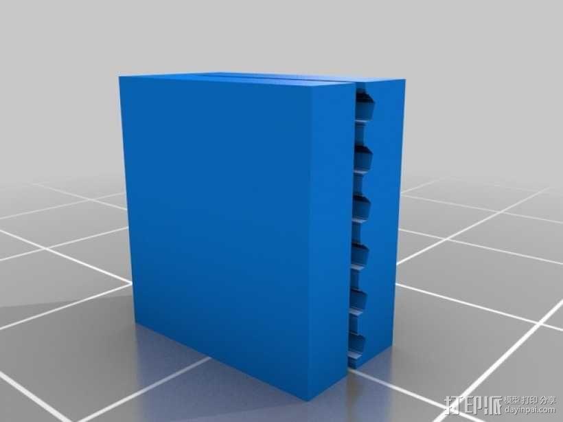 PrintrBot打印机Y轴皮带固定装置 3D模型  图12