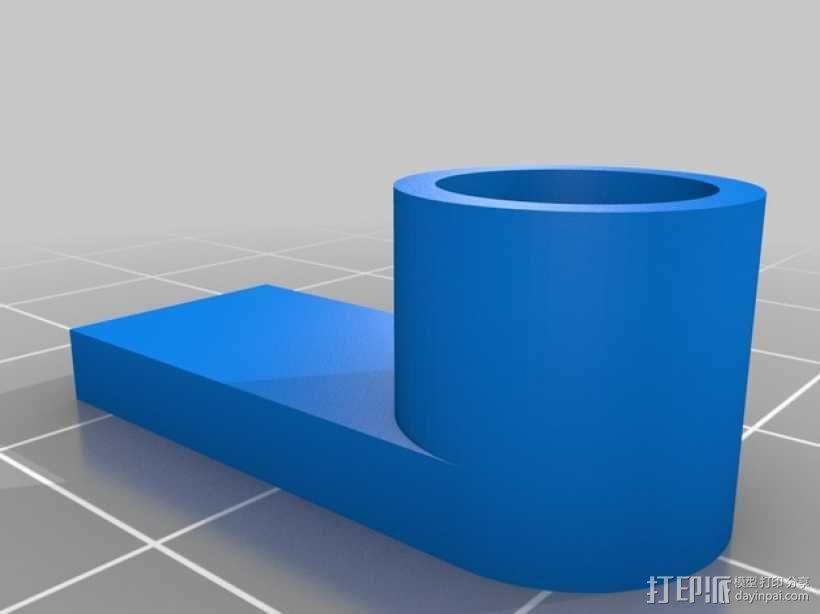 PrintrBot打印机Y轴皮带固定装置 3D模型  图14