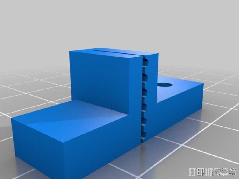PrintrBot打印机Y轴皮带固定装置 3D模型  图13