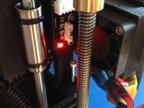 QU-BD One-Up打印机限位开关座 3D模型