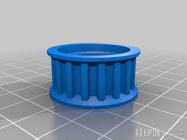 K8200 / 3DRAG Parallel打印机Z轴的主轴齿轮 3D模型  图10