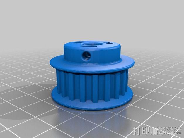 K8200 / 3DRAG Parallel打印机Z轴的主轴齿轮 3D模型  图11