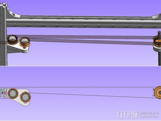 K8200 / 3DRAG Parallel打印机Z轴的主轴齿轮 3D模型  图12
