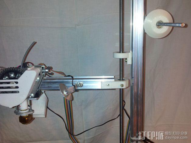 K8200 / 3DRAG Parallel打印机Z轴的主轴齿轮 3D模型  图15