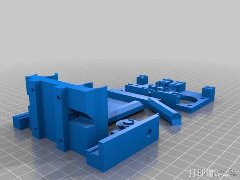 QU-BD One/TwoUp打印机的挤出机 3D模型  图2