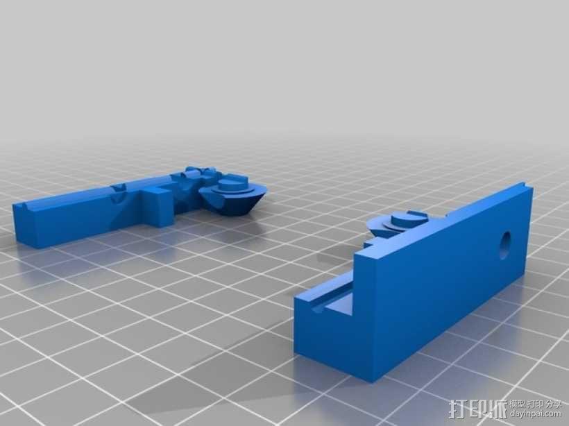 QU-BD One/TwoUp打印机的挤出机 3D模型  图3