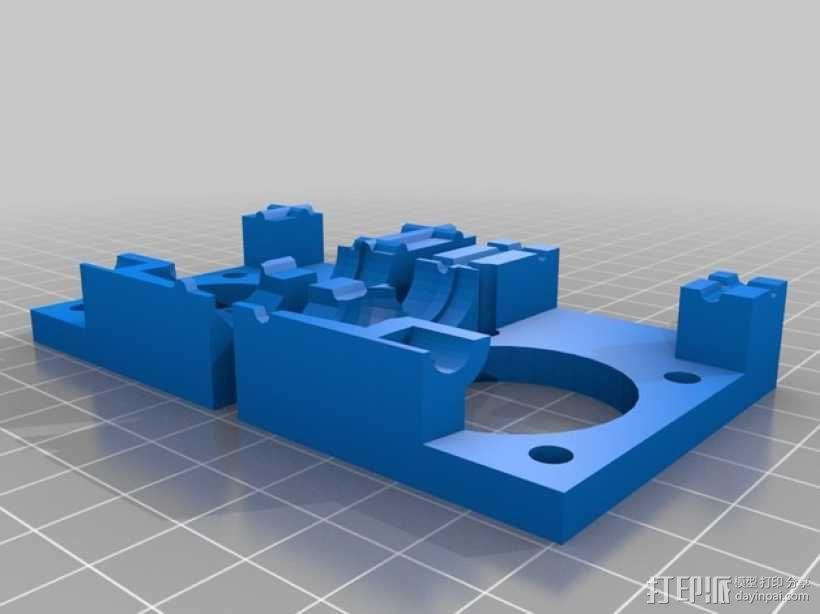 QU-BD One/TwoUp打印机的挤出机 3D模型  图4