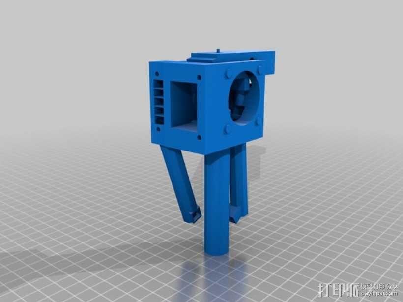 QU-BD One/TwoUp打印机的挤出机 3D模型  图8