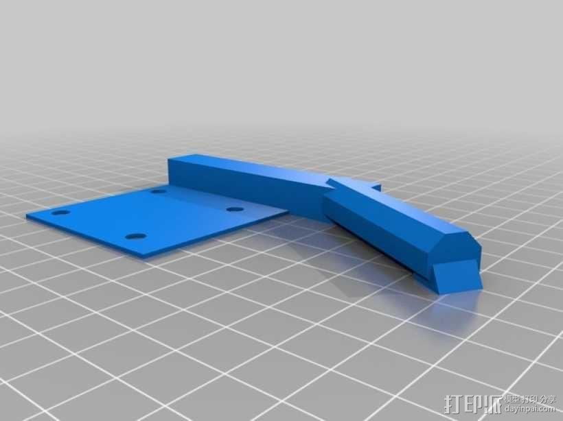 QU-BD One/TwoUp打印机的挤出机 3D模型  图6