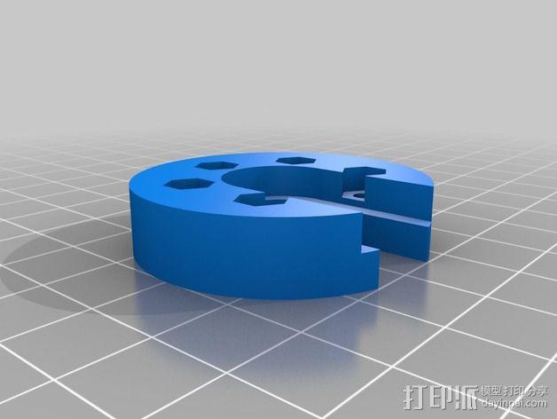 mini Kossel打印机J形槽固定座 3D模型  图2