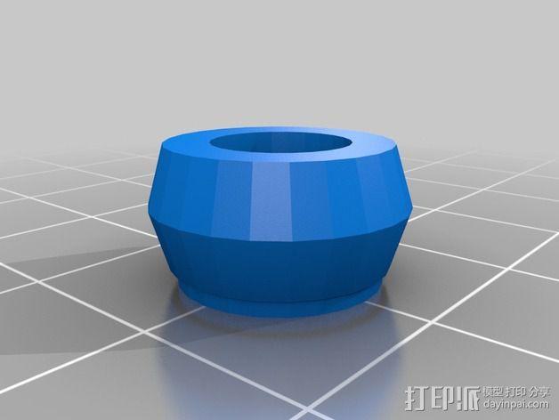 Kossel Mini 打印机滚轴 3D模型  图2