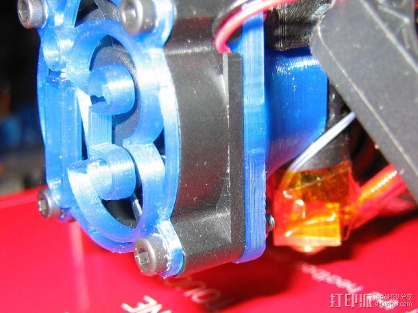 i3打印机J形头喷嘴罩 风扇导管  3D模型  图3
