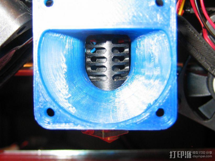 i3打印机J形头喷嘴罩 风扇导管  3D模型  图2