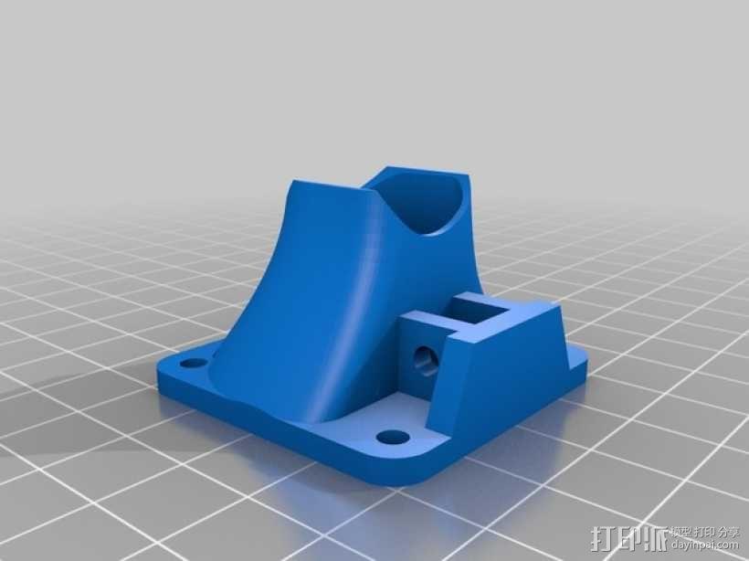 i3打印机J形头喷嘴罩 风扇导管  3D模型  图4