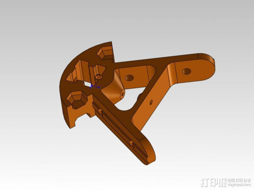 Kossel打印机外框固定器 3D模型  图1