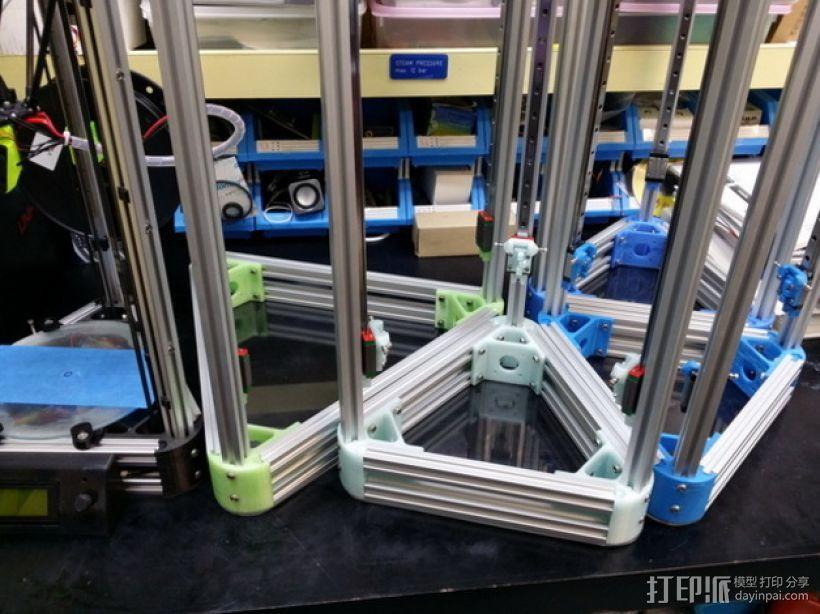 Kossel打印机外框固定器 3D模型  图4