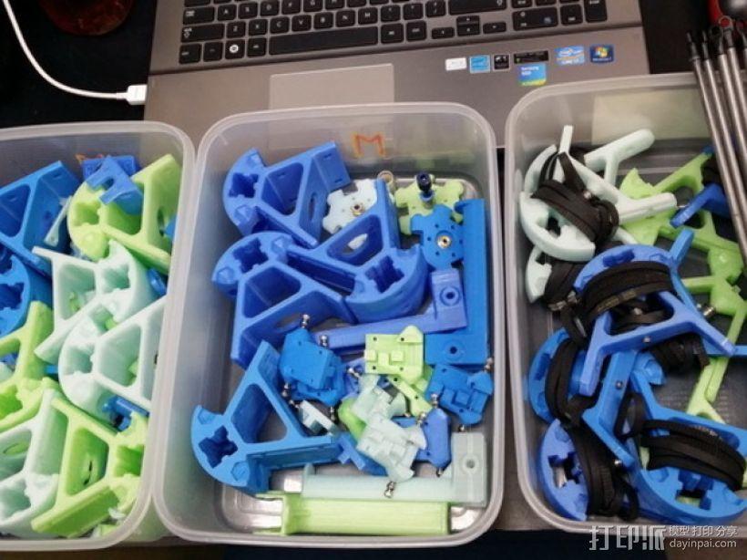 Kossel打印机外框固定器 3D模型  图3