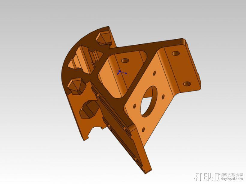 Kossel打印机外框固定器 3D模型  图2