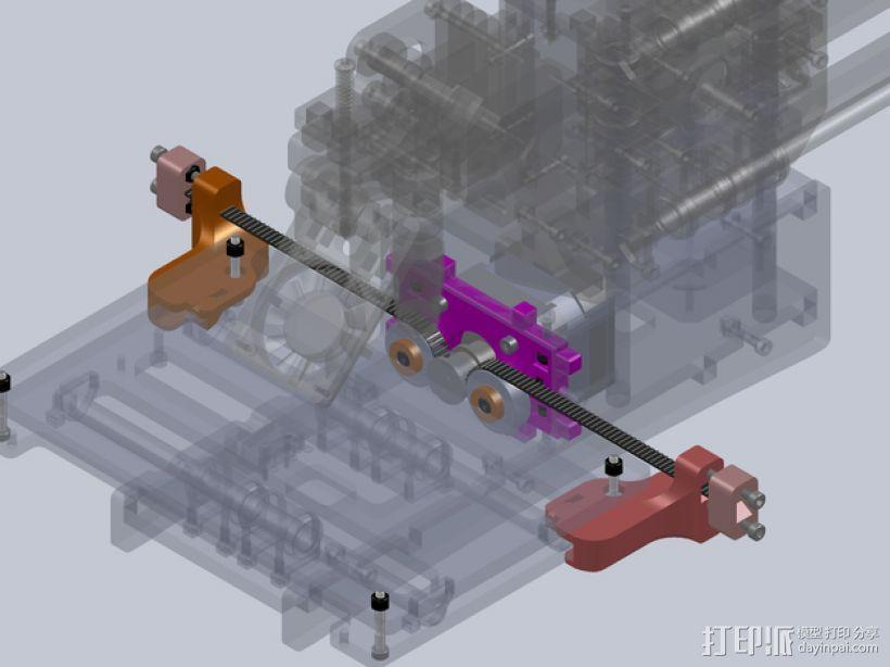 Printrbot打印机正时皮带 3D模型  图1