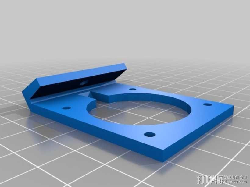 Robo3D打印机风扇座 3D模型  图1