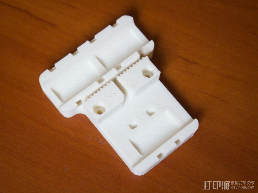 Prusa i3打印机X轴皮带固定器 3D模型  图1
