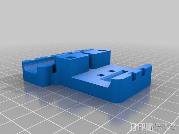 Prusa i3打印机X轴皮带固定器 3D模型  图2