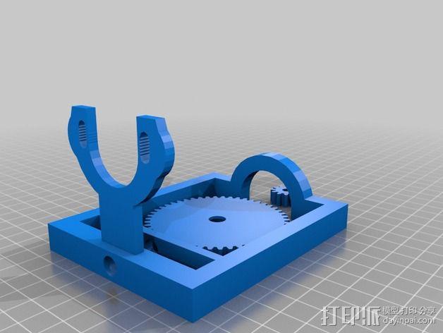 简易形挤出机 3D模型  图2