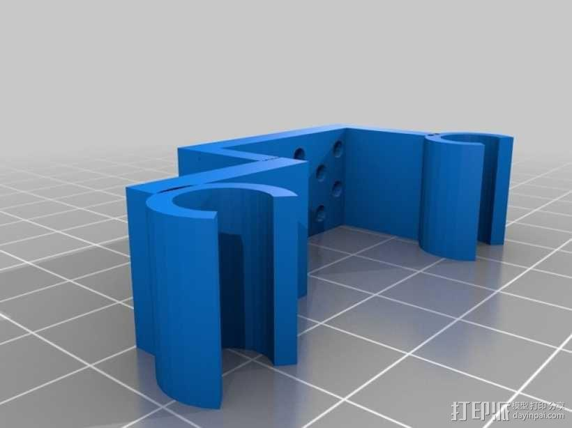 Prusa i3打印机限位开关固定器 3D模型  图2