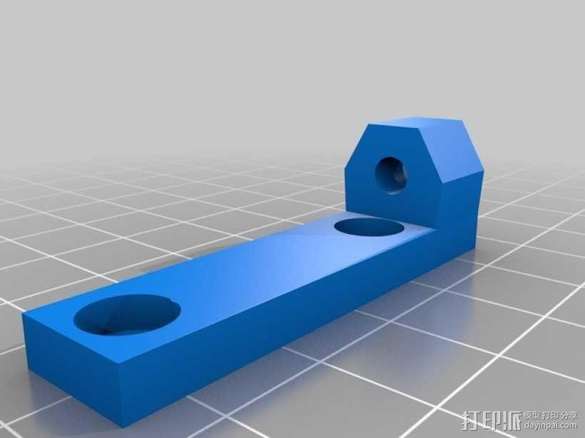 Prusa i3打印机限位开关固定器 3D模型  图3